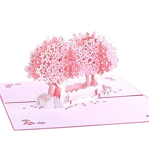 Fusolo 3D Pop up Cards, Plum Tree Cards, Birthday Cards, Thank you Cards, Greeting Cards ()