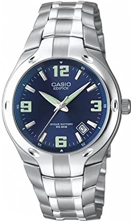 Image Unavailable. Image not available for. Colour  CASIO Edifice Men s  Quartz Watch with Blue Dial Analogue ... dc8d634f45a5