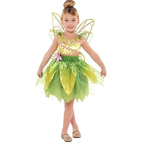 Suit Yourself Classic Tinkerbell Halloween Costume for Toddler Girls, 3-4T, Includes Wings -