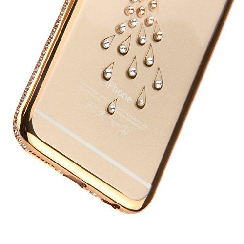Coque iPhone 6S Plus,Coque iPhone 6 Plus,Coque Étui Case pour iPhone 6 / 6S Plus,ikasus® Plating Rose Golden Placage or rose Coque iPhone 6 / 6S Plus Silicone Étui Housse Téléphone Couverture TPU Clai