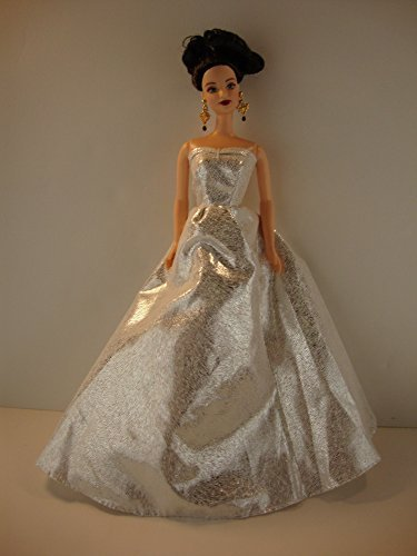 - A Metallic Silver Strapless Ball Gown a Really Great Color Made to Fit the Barbie Doll