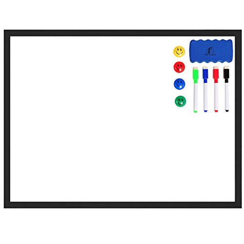 Whiteboard Set - Wooden Frame (Real Wood) Dry Erase White Board 24 x 18