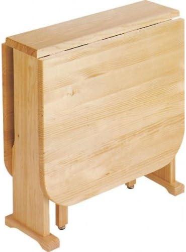 Mesa Plegable de madera de Pino Macizo Sin barniz: Amazon.es: Hogar