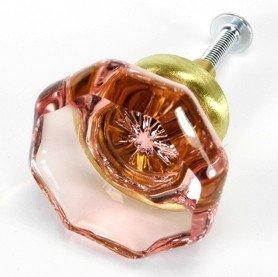 Satin Brass Crystal - 8