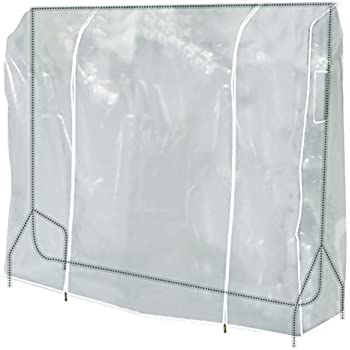 "Hangerworld 58"" Transparent Clothes Garment Rail Cover with Strong Zipper and Document Pocket"