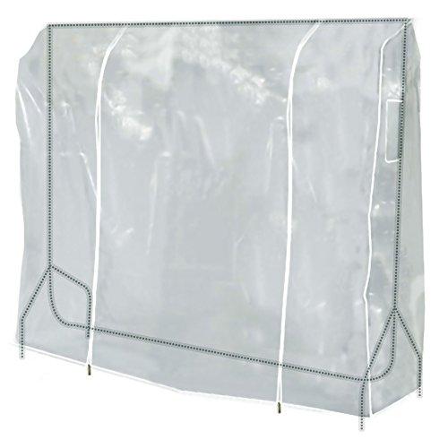 HANGERWORLD Clear 5ft Showerproof Zip Clothes Rail Cover Hanging Garment Storage Display