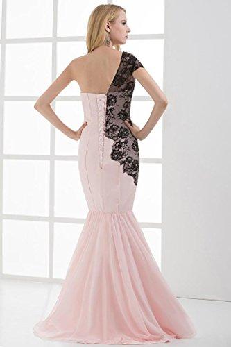 Meerjungfrau SchulterChiffon Rosa langes Neuer Kleid BRIDE GEORGE Entwurf Ein IAwYBy7