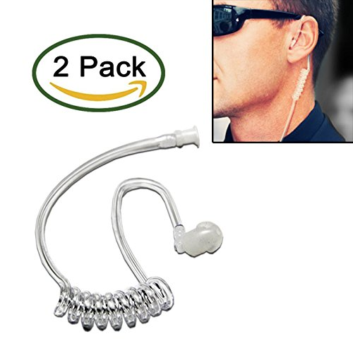 Pack of 2 - Twist On Replacement Acoustic Tube for 2-Way Radio Headsets by MaximalPower