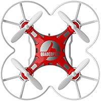 lifepot Hiinst 124 RC Mini Quadcopter 2.4G Remote Control RTF 4CH 6-Axis Gyro Pocket Drone Toys for Children (Red)