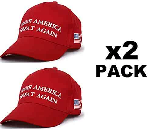 2b834cc3 Make America Great Again Hat [2 Pack], Donald Trump USA MAGA Cap Adjustable