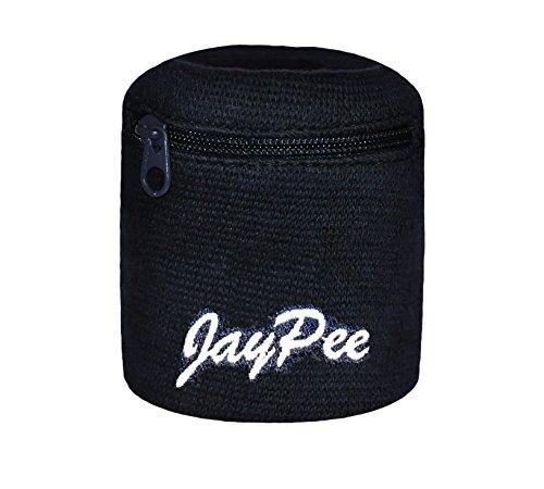 JayPee Funktions-Schweißband mit Fach Tasche und Reißverschluss / sport Wristband Navy (Jaypee)
