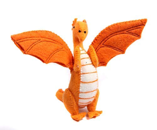 Nivas Collection Dragon Felt Toy (Orange)
