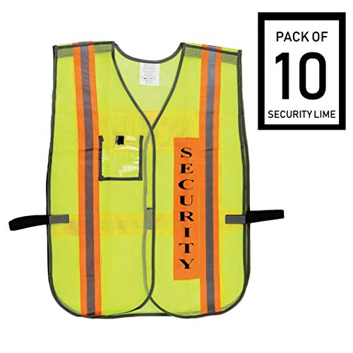 Troy Safety Vest with Reflective Stripes (10 Pack, Security Lime) ()