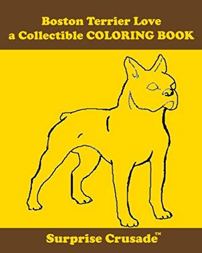 Boston Terrier Love a Collectible COLORING BOOK
