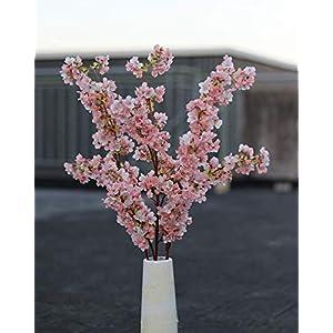 Ahvoler Artificial Cherry Blossom Branches Flowers Stems Silk Tall Fake Flower Arrangements Home Wedding Decoration,39 Inch 3