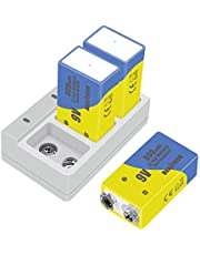 9v Rechargeable Batteries 9v Lithium-ion Batteries Capacity 800mAh ,3 Pack with Quick Charger, Maxlithium