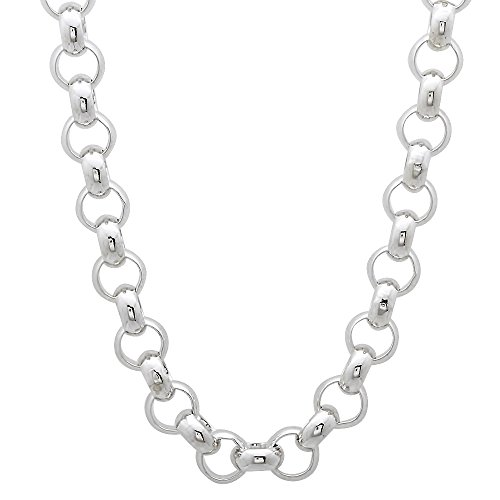 925 Sterling Silver Nickel-Free 5.8mm Rolo Cable Link Chain, 24 inches - Made in Italy + Bonus Cloth