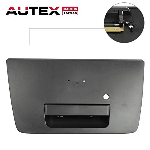 AUTEX Smooth Black Tailgate Handle Liftgate Door Handle Compatible with Nissan Titan 2004 2005 2006 2007 2008 2009 2010 2011 2012 2013 2014 2015 Tailgate Handle 81568, 906067S200