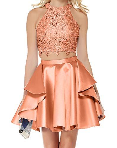 Festlichkleider Charmant Ballkleider 2018 Partykleider Damen Orange Mini Cocktailkleider Abendkleider YHHx4tq