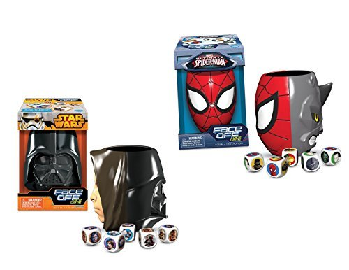 Marvel Ultimate Spider-Man Face Off Dice Game And Star Wars Face Off Dice Game Bundle