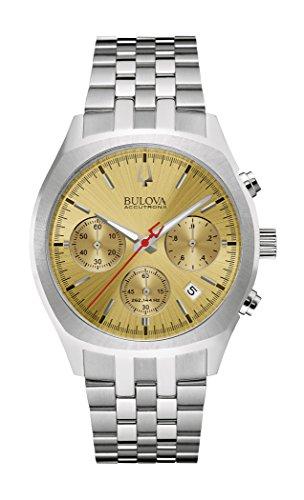 Bulova Mens 96B239 Quartz Chronograph Bracelet 41mm Watch (Renewed)