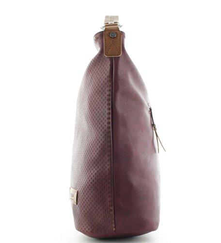 Prato Damen Henkeltasche Handtasche Shopper S798 Bordo Bordo