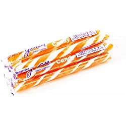 Tangerine White & Orange Old Fashioned Hard Candy Sticks: 10 Count (Individually Wrapped)