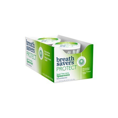 - Breath Savers Protect Sugar Free Mints Spearmint 6 Count