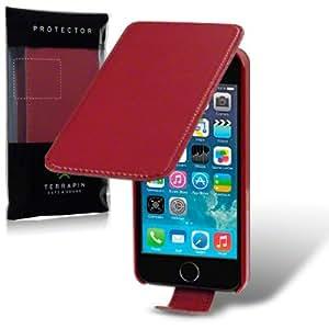 iPhone 5/5S Premium PU Leather Flip Case (Red)
