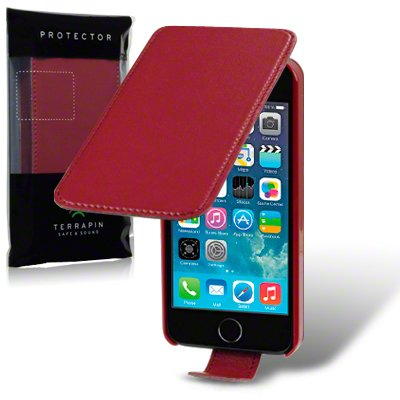 Etui / Housse en Cuir (simili-cuir) Extra Fin Slim pour Apple iPhone 5 Rouge