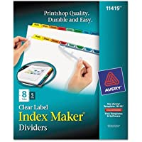AVE11419 - Avery Index Maker Divider w/Multicolor Tabs