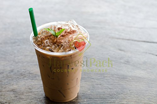 (1000 COUNT) Premium Plastic Disposable Cups - Premium 16 oz (ounces) Crystal Clear PET (No Lids) for Cold Drinks Iced Coffee Tea Juices Smoothies Slush Soda Cocktails Beer Sundae Kids Safe (16oz Cup) by Harvest Pack (Image #2)