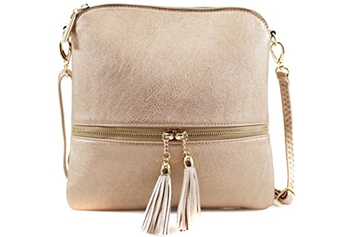 Tote Body Cross Bags Satchel Tassel Shoulder Ladies Handbag Bag Chain Women Gold Messenger fqFHTpA