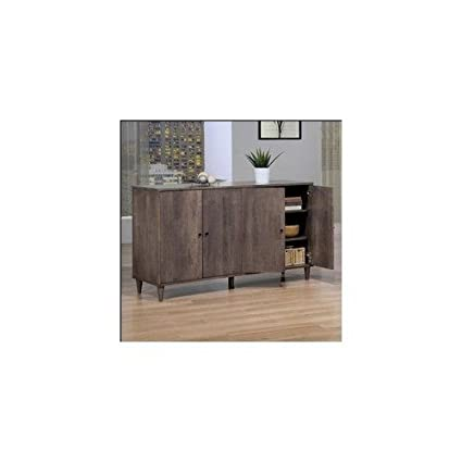 Charcoal Grey Buffet. This Dining Room Furniture Features an Elegant  Distressed Wood Finish. Enjoy the Charm of This Antique Credenza in Your  Den, ...