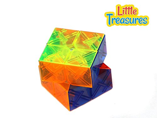 Little Treasures Cube Speed 2 x 2 x 2 Clear Stickerless Magic Cube Puzzle, Bright Vivid Colors