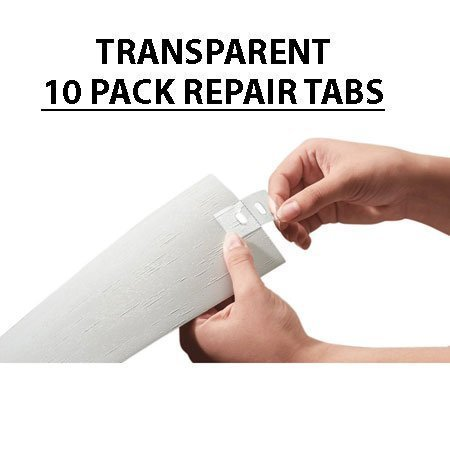 Vertical Blind Repair Tabs Transparent 10 Pack 1 Inch By 1 Inch Square Front And Back