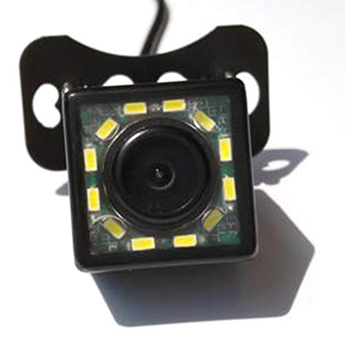 DEH 12LED CCD Imaging Sensor Night Vision Car Backup Rear View Camera Waterproof - Black