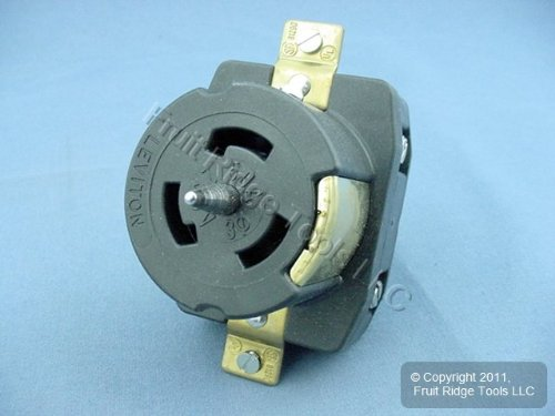 Non Nema Locking Flush Receptacle - Leviton CS83-69 Non-NEMA Locking Flush Receptacle - Black