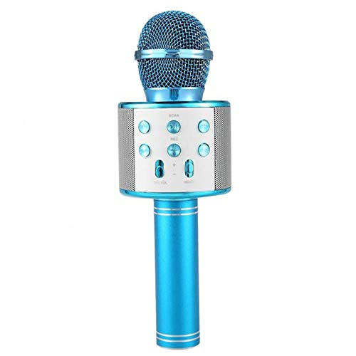 RONSHIN Bluetooth Speakers,Bluetooth Wireless Microphone Handheld Karaoke Mic USB KTV Player Bluetooth Speaker Record Music Microphones Blue by RONSHIN