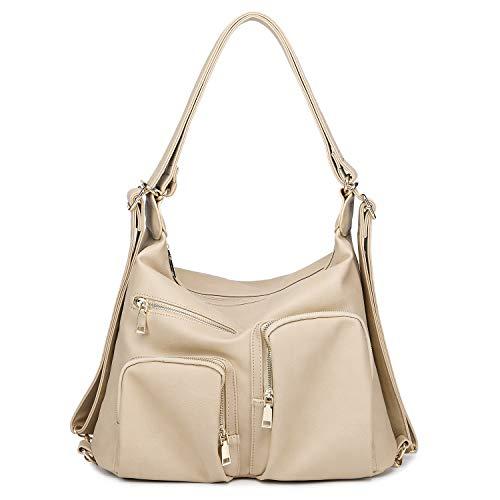 Abshoo Classic Large Womens Purses Pu Leather Handbags Ladies Shoulder Bags - Handbag Leather Apricot