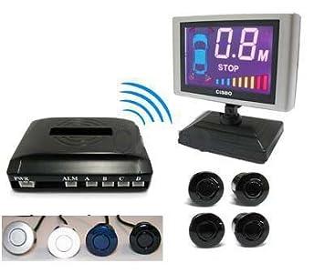 15m 15 Meters Range Wireless Rear Car Reverse Reversing parking Senbsor 4 sensors & LCD dispaly Parking Assistances Black