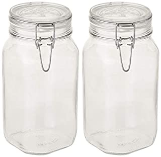 Bormioli Rocco B072M8GHN2 Fido Clear Glass Jar with 85 mm Gasket, 1.5 Liter (Pack of 2) (B072M8GHN2) | Amazon price tracker / tracking, Amazon price history charts, Amazon price watches, Amazon price drop alerts