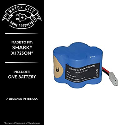 Shark X1725Q Comparable Battery, Motor City Home Products Brand Replacement