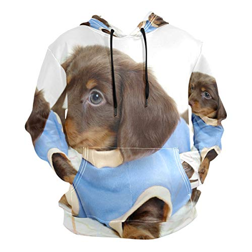 Pingshoes Puppies Dog Hoodie 3D Pullover Hooded Long Sleeve Workout Sweatshirts -