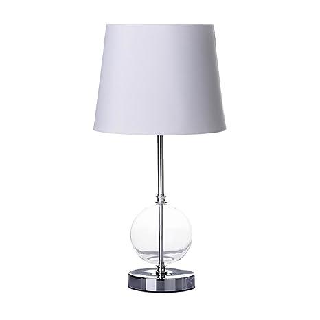 Lámpara de sobremesa moderna plateada de cristal para salón ...