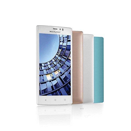 """Multilaser P9006, Smartphone 4G Quadcore 2Gb Ram Tela 5.5"""" Dual Chip Android 5, Branco"""