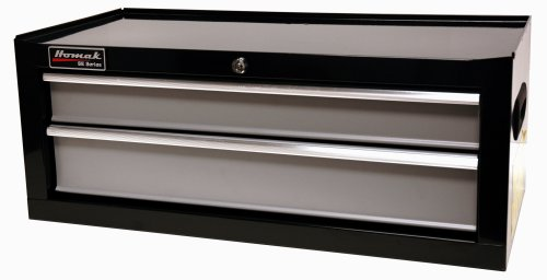 Homak BG03027203 27Inch SE Series 2Drawer MidChest, Black/Gray by Homak Manufacturing (Image #1)