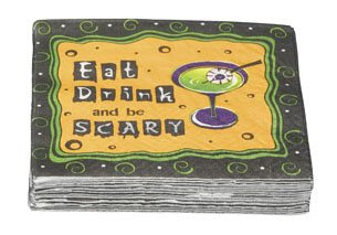 Eat drink Be Scary Halloween Cocktail Napkins]()