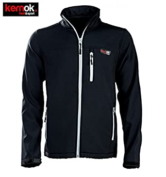 heatsport-kernok Chaqueta Calefactable Soft Shell Chico Negra