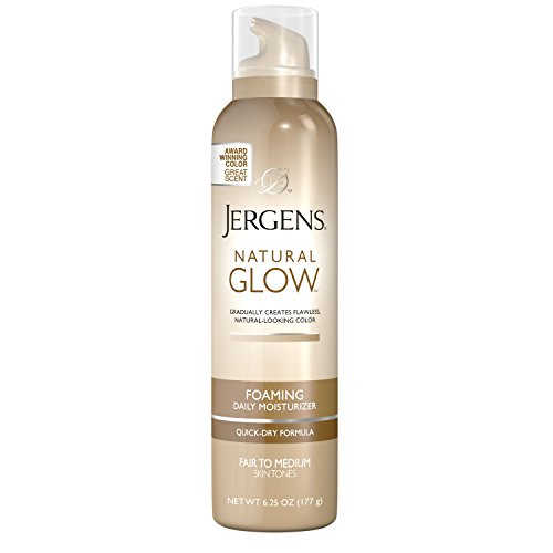 Jergens Natural Glow Foaming Daily Moisturizer for Body, Fair to Medium Skin Tones, 6.25 Ounces - Glow Daily Moisturizer